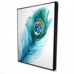 Framed 36 x 48 - 3D - Long peacock feather