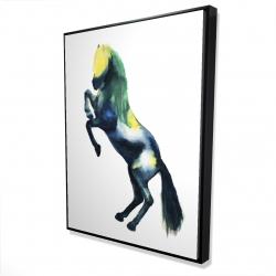 Framed 36 x 48 - 3D - Greeting horse