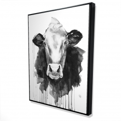Framed 36 x 48 - 3D - Cow