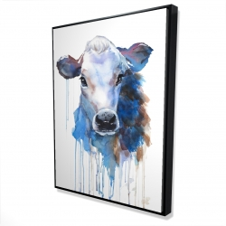 Framed 36 x 48 - 3D - Watercolor jersey cow