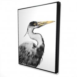 Framed 36 x 48 - 3D - Great heron