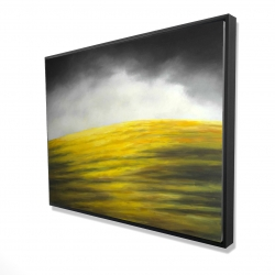 Framed 36 x 48 - 3D - Yellow hill