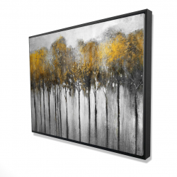 Framed 36 x 48 - 3D - Abstract yellow forest