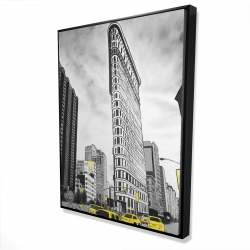 Framed 36 x 48 - 3D - Outline of flatiron building to new-york