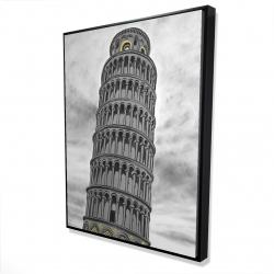 Framed 36 x 48 - 3D - Tower of pisa in italy