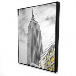 Framed 36 x 48 - 3D - Outline of empire state building