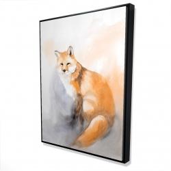 Framed 36 x 48 - 3D - Watercolor fox
