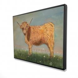 Framed 36 x 48 - 3D - Daisy the highland cow