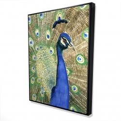 Framed 36 x 48 - 3D - Peacock