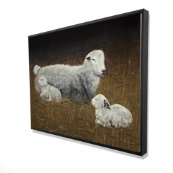 Framed 36 x 48 - 3D - Sheep and lambs