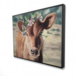 Framed 36 x 48 - 3D - Cute jersey cow