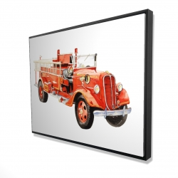 Framed 36 x 48 - 3D - Vintage fire truck