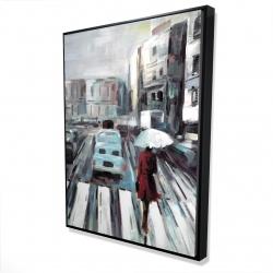Framed 36 x 48 - 3D - Abstract pedestrian crossing