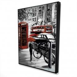 Framed 36 x 48 - 3D - European street