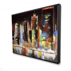 Framed 36 x 48 - 3D - Cityscape by night