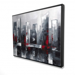 Framed 36 x 48 - 3D - Abstract cityscape