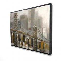 Framed 36 x 48 - 3D - Bridge by a cloudy day
