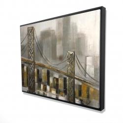 Framed 36 x 48 - 3D - Bridge by a cloudy day