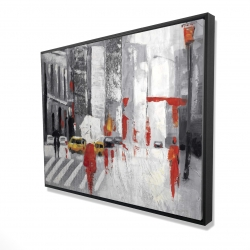 Framed 36 x 48 - 3D - Abstract cloudy city street