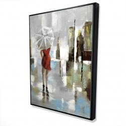 Framed 36 x 48 - 3D - Red dress woman