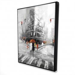 Framed 36 x 48 - 3D - Greyish flatiron building