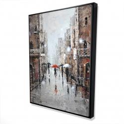 Framed 36 x 48 - 3D - City rain