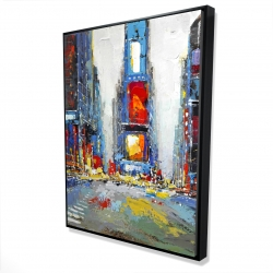 Framed 36 x 48 - 3D - Abstract and colorful buildings