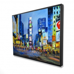 Framed 36 x 48 - 3D - Cityscape in times square