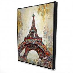 Framed 36 x 48 - 3D - Abstract eiffel tower