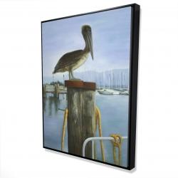 Framed 36 x 48 - 3D - Pelican