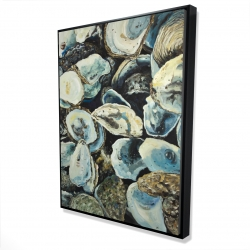 Framed 36 x 48 - 3D - Oyster shells