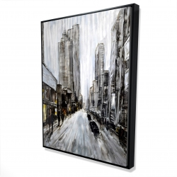 Framed 36 x 48 - 3D - Gray gloomy street