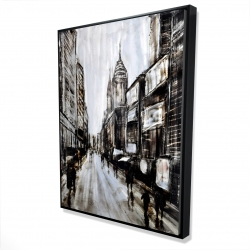 Framed 36 x 48 - 3D - Busy gray street
