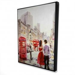Framed 36 x 48 - 3D - Couple walking