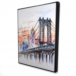 Framed 36 x 48 - 3D - Bridge sketch