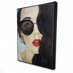 Framed 36 x 48 - 3D - Fashionable sunglasses