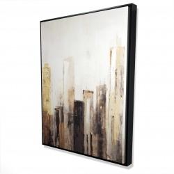 Framed 36 x 48 - 3D - Earthy tones city