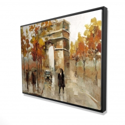 Framed 36 x 48 - 3D - Arc de triomphe in autumn
