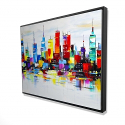 Framed 36 x 48 - 3D - Abstract and colorful city
