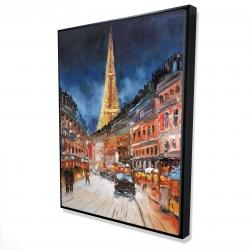 Framed 36 x 48 - 3D - Illuminated paris