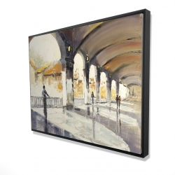 Framed 36 x 48 - 3D - People in a spacious hall