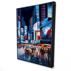 Framed 36 x 48 - 3D - Times square perspective