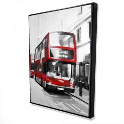 Framed 36 x 48 - 3D - Red bus londoner