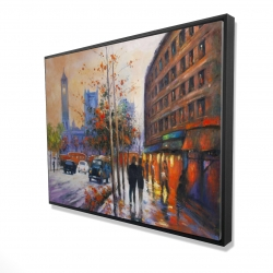 Framed 36 x 48 - 3D - City by fall