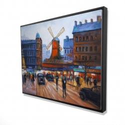 Framed 36 x 48 - 3D - Street scene to moulin rouge