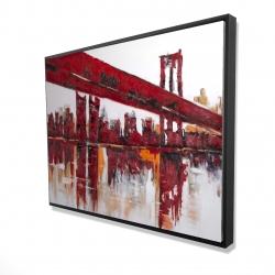Framed 36 x 48 - 3D - Red bridge