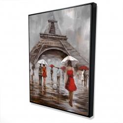 Framed 36 x 48 - 3D - Near the eiffel tower