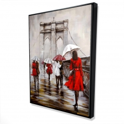 Framed 36 x 48 - 3D - Walk on the brooklyn bridge