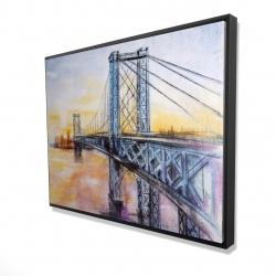 Framed 36 x 48 - 3D - Abstract brooklyn bridge