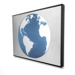 Framed 36 x 48 - 3D - The earth